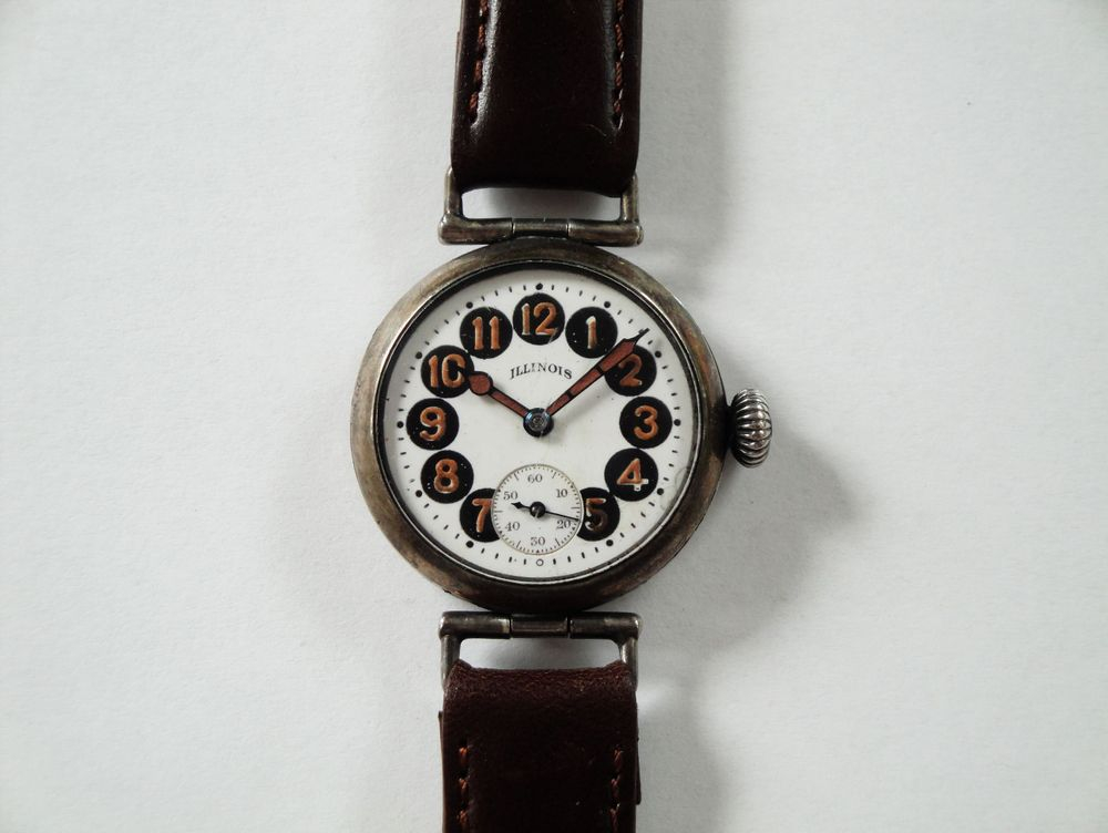 1918 WWI Illinois Telephone Dial Trench Watch