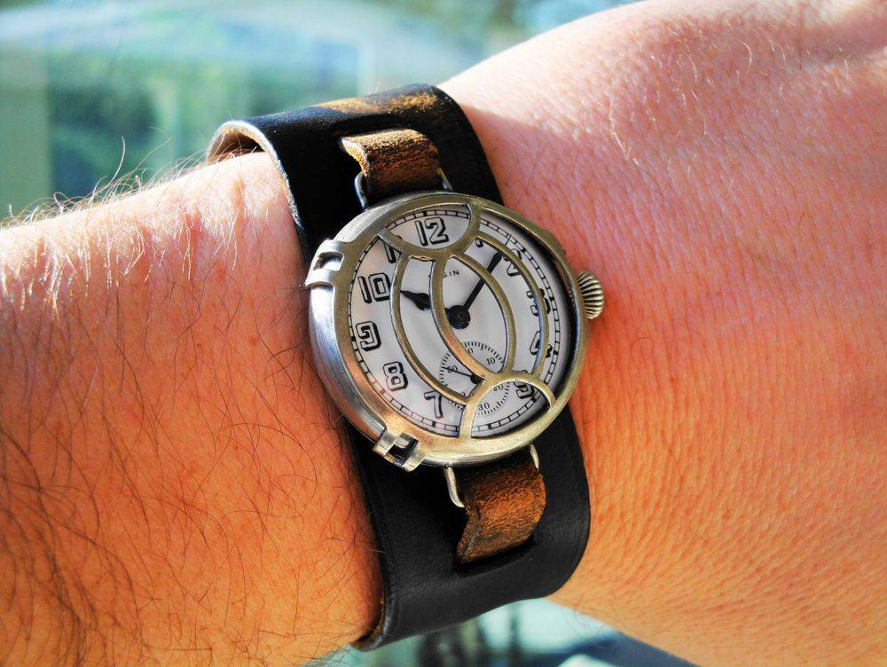 1916 WWI Elgin Trench Watch, Mealy DUO Crystal Guard