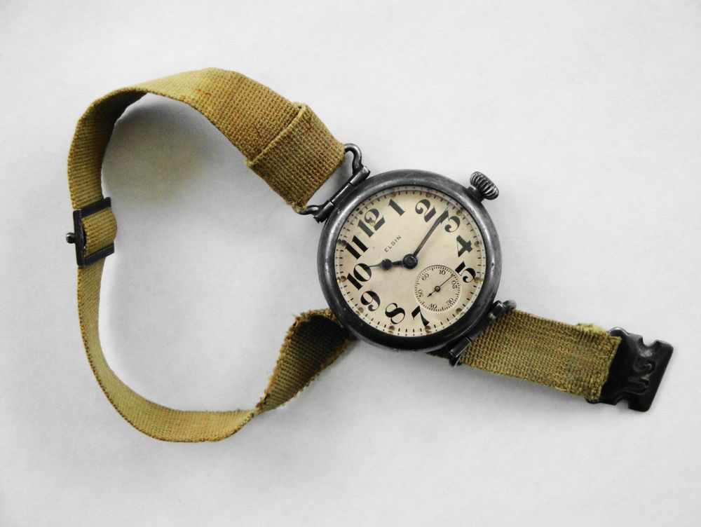 1918 WWI Elgin General Funston Trench Watch