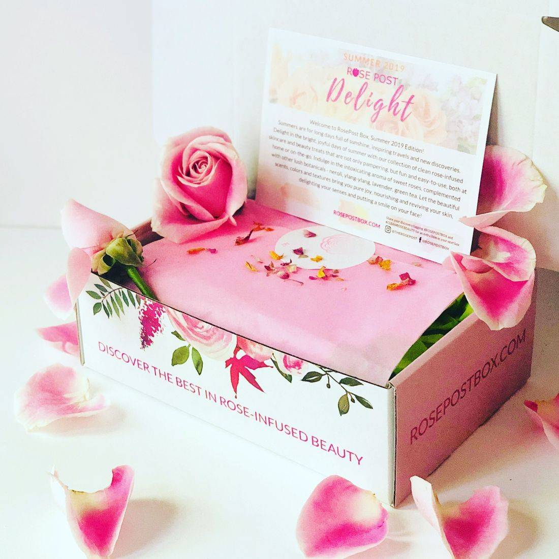 RosePost Box, RosePost Subscription Box, Rose Beauty Box, Rose-infused beauty