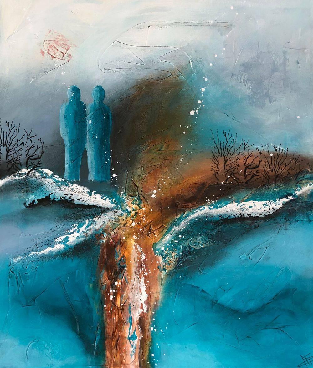 Køb-moderne-malerier-blå