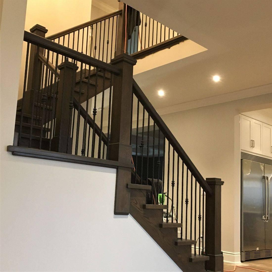 Ayr Custom Oak Stairs With Custom Steel Railing