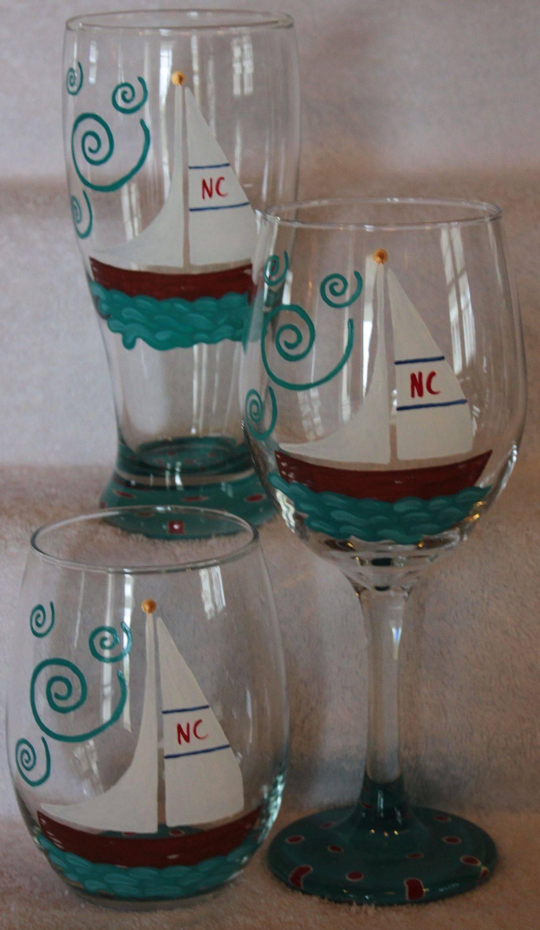 Boat wine glass, sailboat wine glass