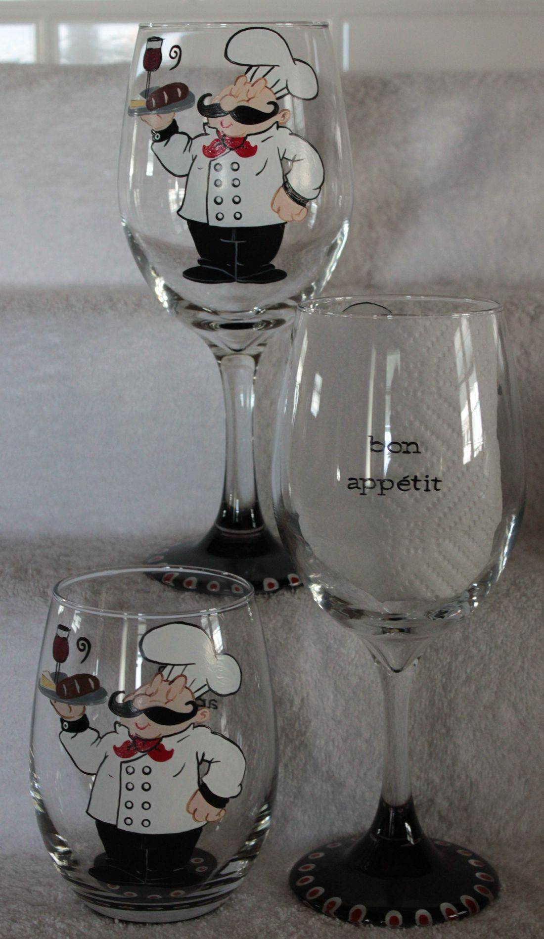 chef wine glass, cooking wine glass, french chef wine glass