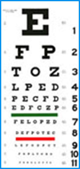 Titmus and Ishihara vision testing.