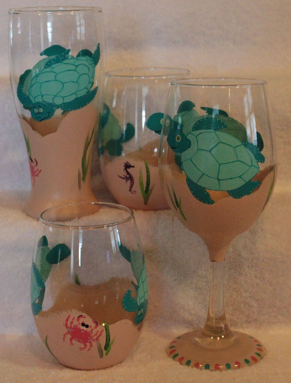 turtle wine glass, turtle water glass, turtle beer glass