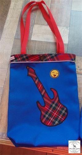 Einkaufstasche aus Stoff - mit Reflektier-streifen Nr. N-T-1