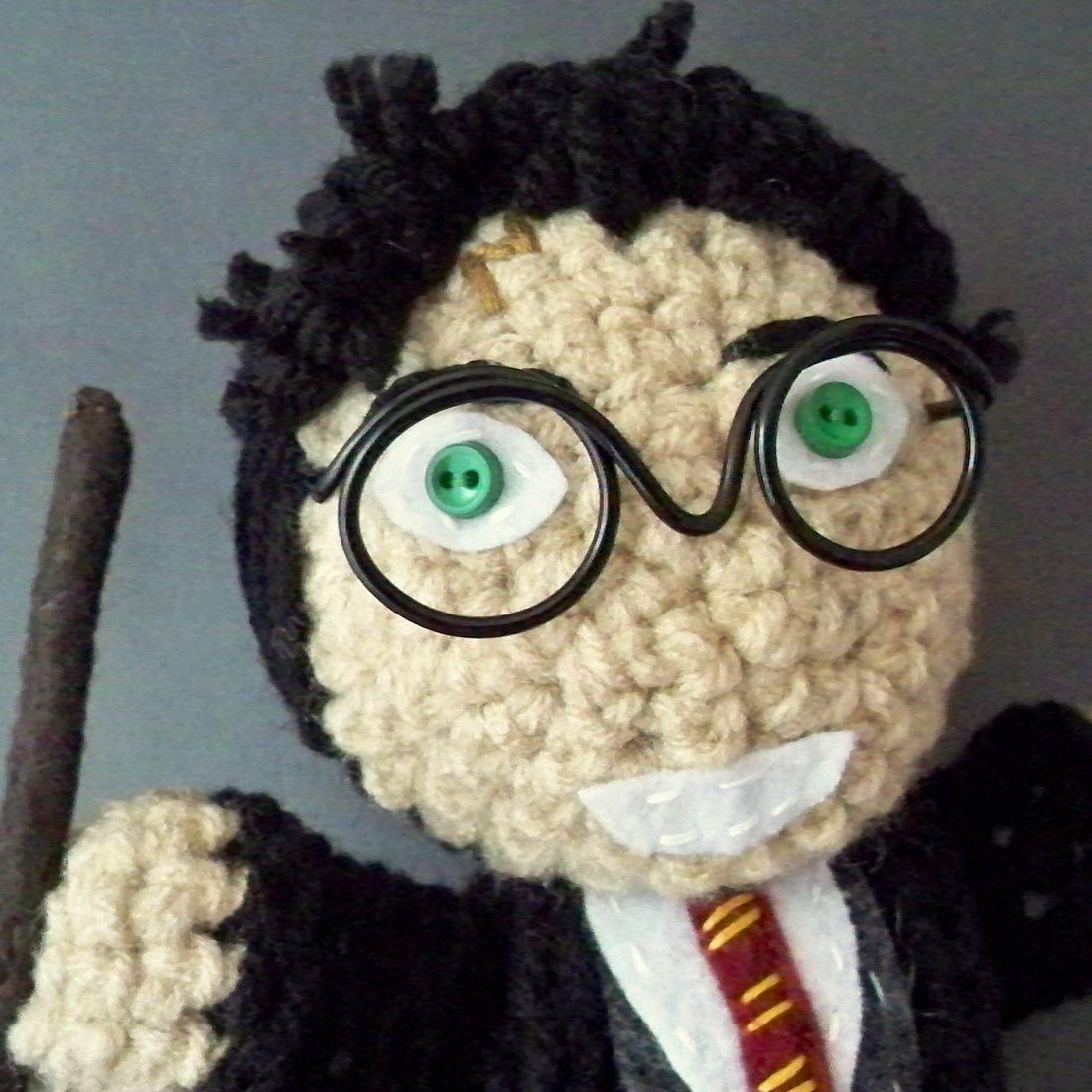 Harry Potter, Wizard, amigurumi, plush, doll, nerd, handmade, geek