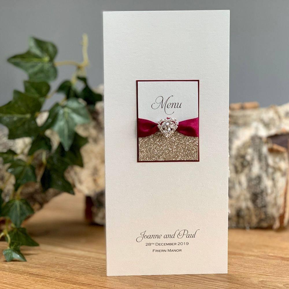 Christmas Wedding - Luxury menu card