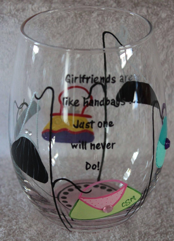 purse wine glass