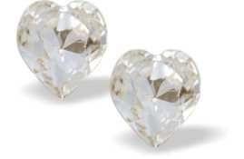 Swarovski Crystal Heart Studs Clear Crystal 9mm (800) £11.99