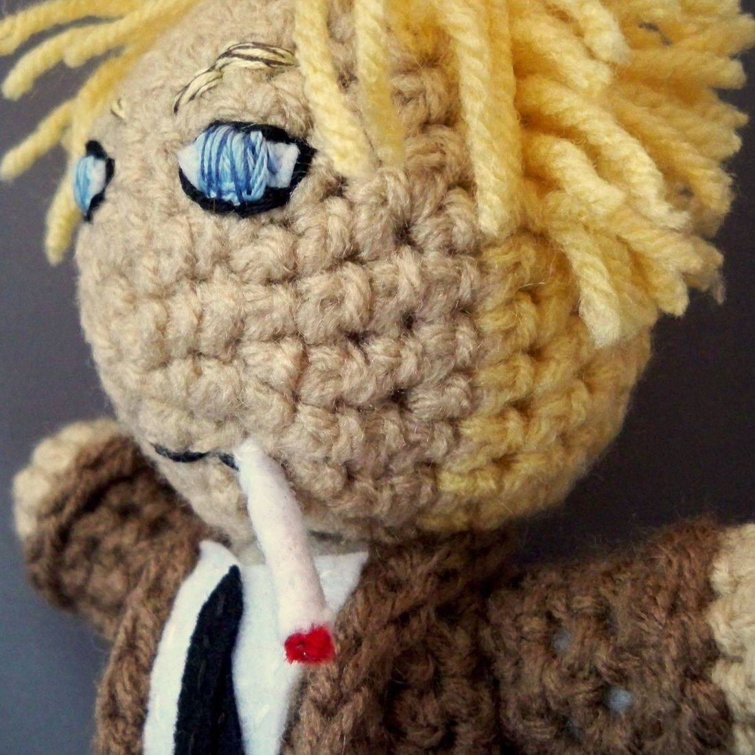 John Constantine, Constantine, amigurumi, crochet, handmade, comicbook, nerd, doll, plush, custom
