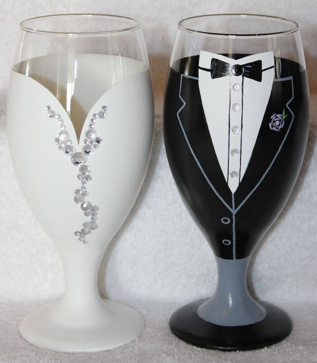 bride goblet, groom goblet
