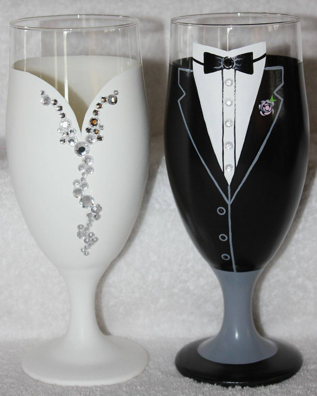 bride beer glass, groom beer glass