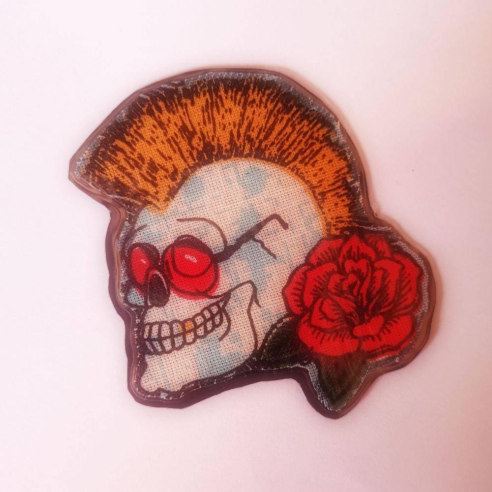 accessoires rock, aimant, magnet skull, accessoires maison, accessoires crâne, accessoire tête de mort, accessoire Biker, accessoire rockabilly, accessoires pinup, Skull, crâne, tête de mort, cotons artisanaux, Rock'n'Babe, rocknbabe, rocknbabeshop