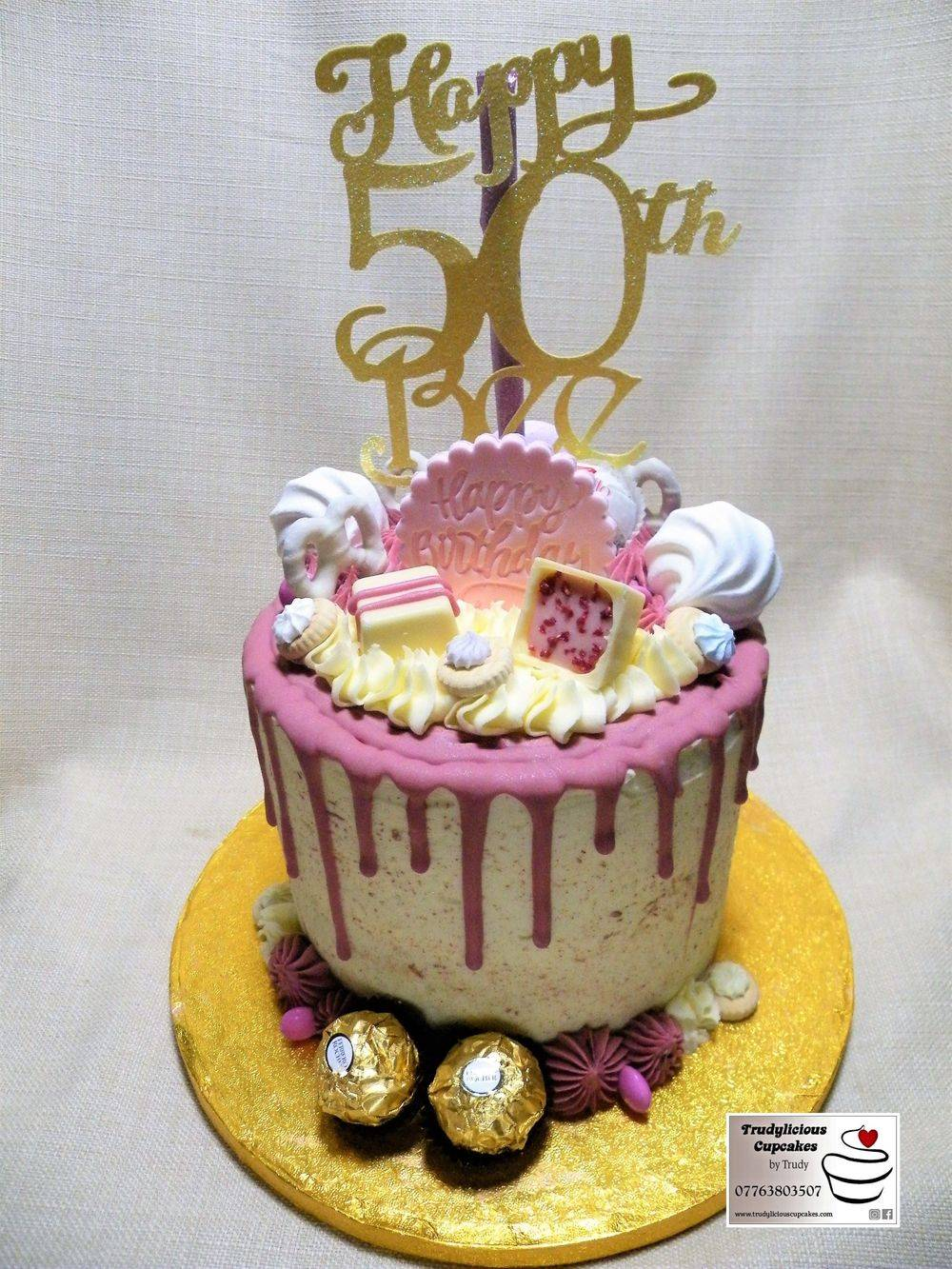 Trudylicious Cupcakes 50th Birthday Cake