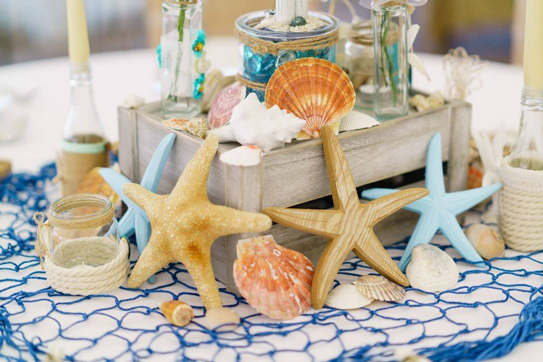 Ideas for styling a beach themed wedding day