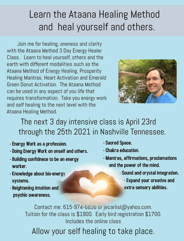 Ataana Method 3 day Energy Healer Intensive Class