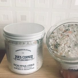 Zoe's Corner bath salts, locally made bath, 613 locally made,