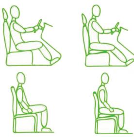 POsizione ergonomica in auto e su sedia