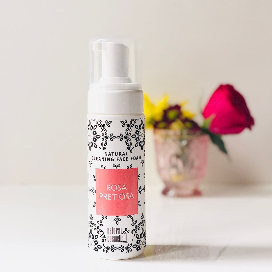 rose clean beauty, face cleansing foam, rose water, rose-infused skincare, organic skincare, clean beauty box, cleanbeauty