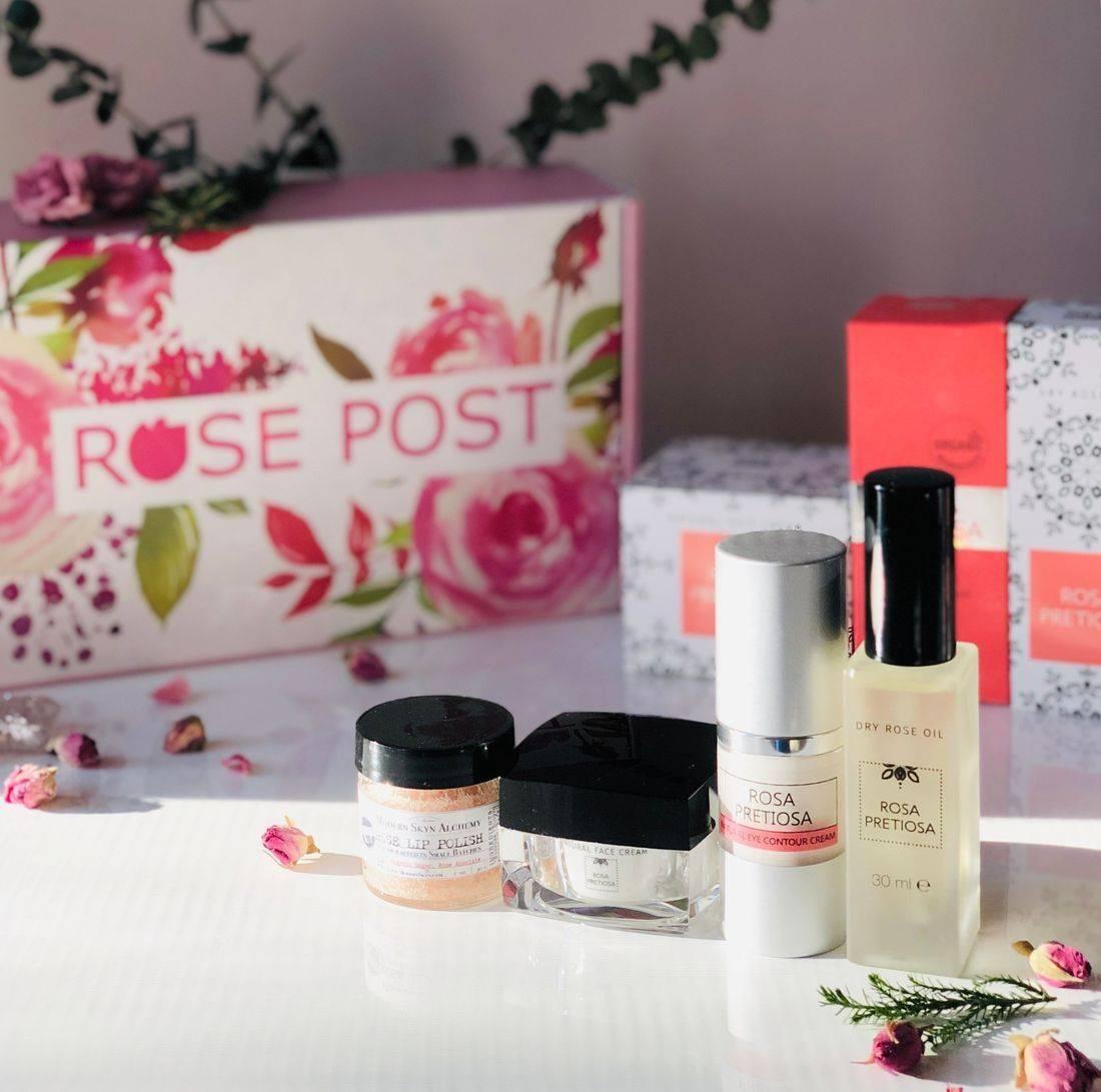 Rose Gift Box, Holiday Gift Box, RosePost Spring Box, RosePost Box, Green Beauty Subscription, Rose Beauty Box, Green Beauty Box, Rose Skincare, Clean Rose Beauty