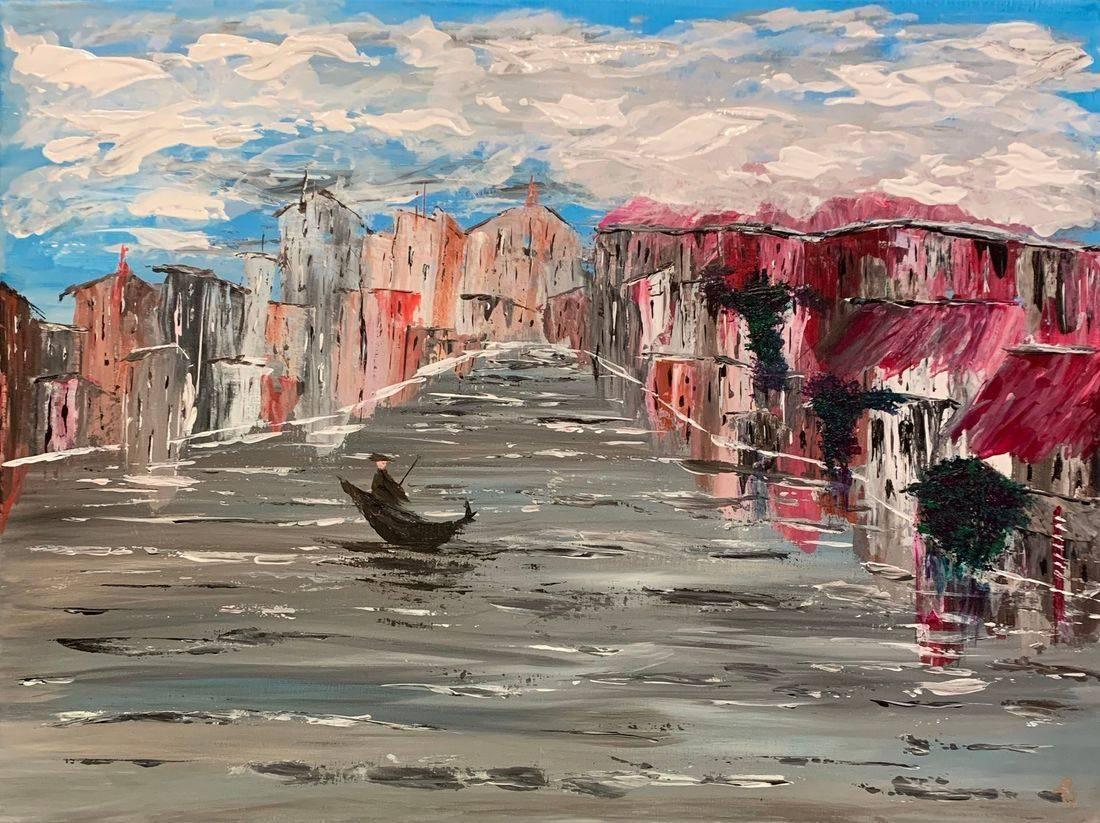 Venice, Grand Canal, Gondola, Gondolier