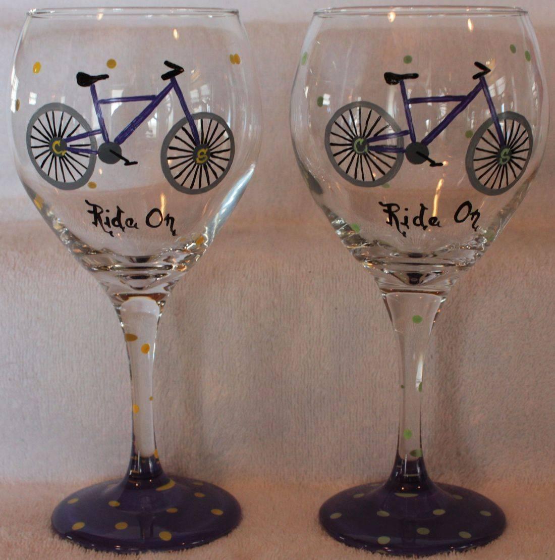 bike wine glass
