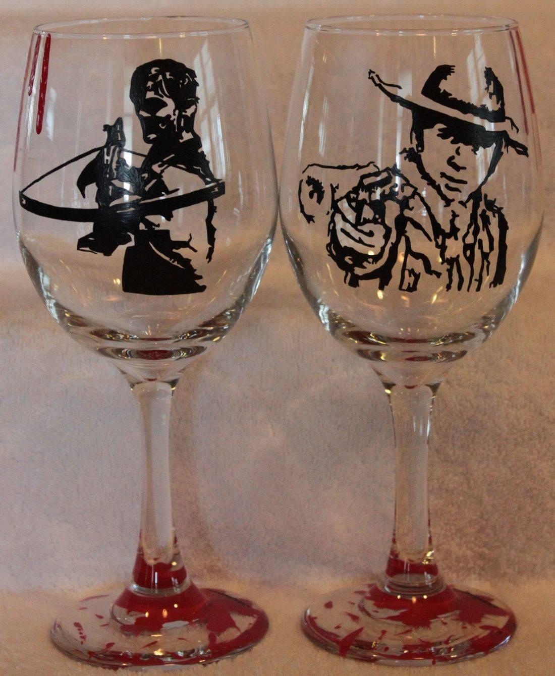 Daryl wine glass, carl wine glass