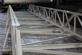 Welded steel fabrication; Steel pipe bridge for storage tank facility
