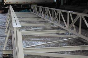 Welded steel fabrication; Steel pipe bridge for storage tank facility