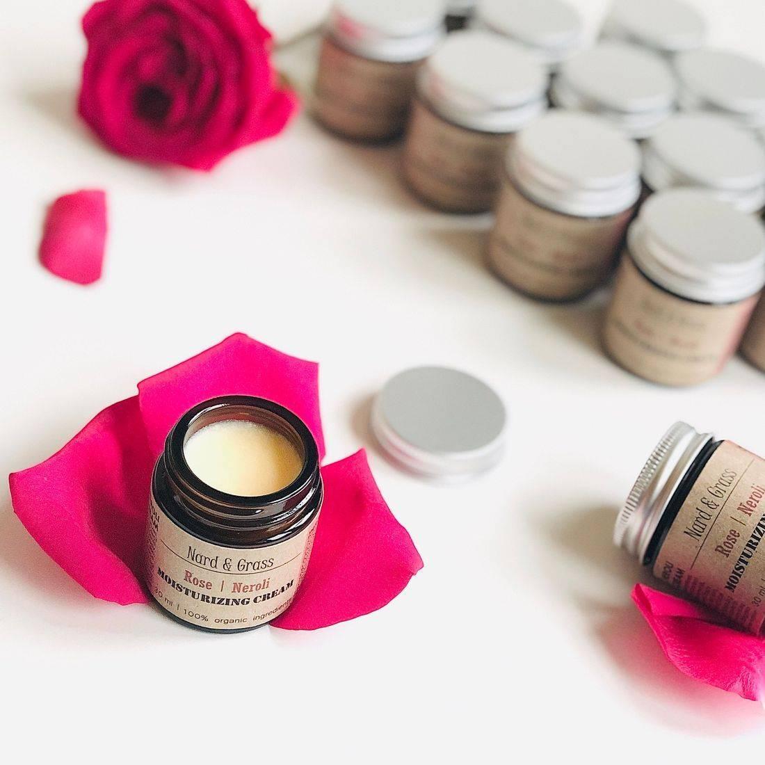 Nard & Grass Rose Neroli Cream, Rose Balm, Rose Face Cream, Organic Rose Face Balm, RosePost Box, Bulgarian Rose Oil, Organic Rose Oil, Clean Rose Infused Skincare