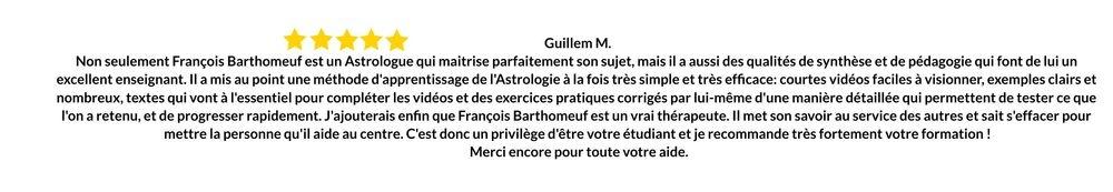 Avis Formation François Barthomeuf