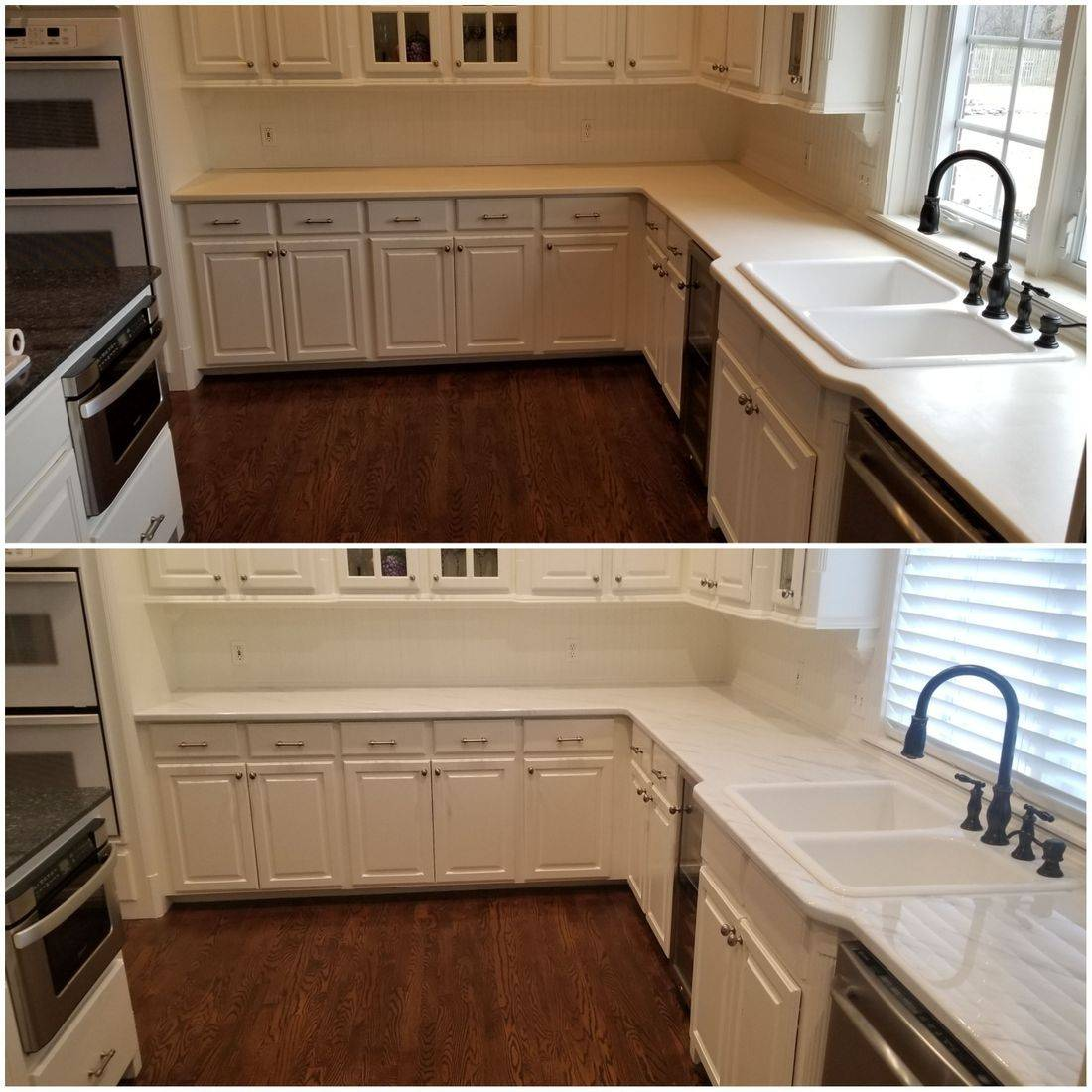 CounterFIT LLC Epoxy countertops before and after