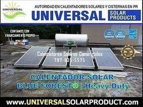 Calentador Solar 120 galones con 4 placas