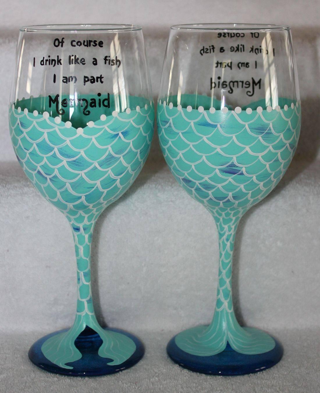 mermaid wine glass, mermaid tail wine glass