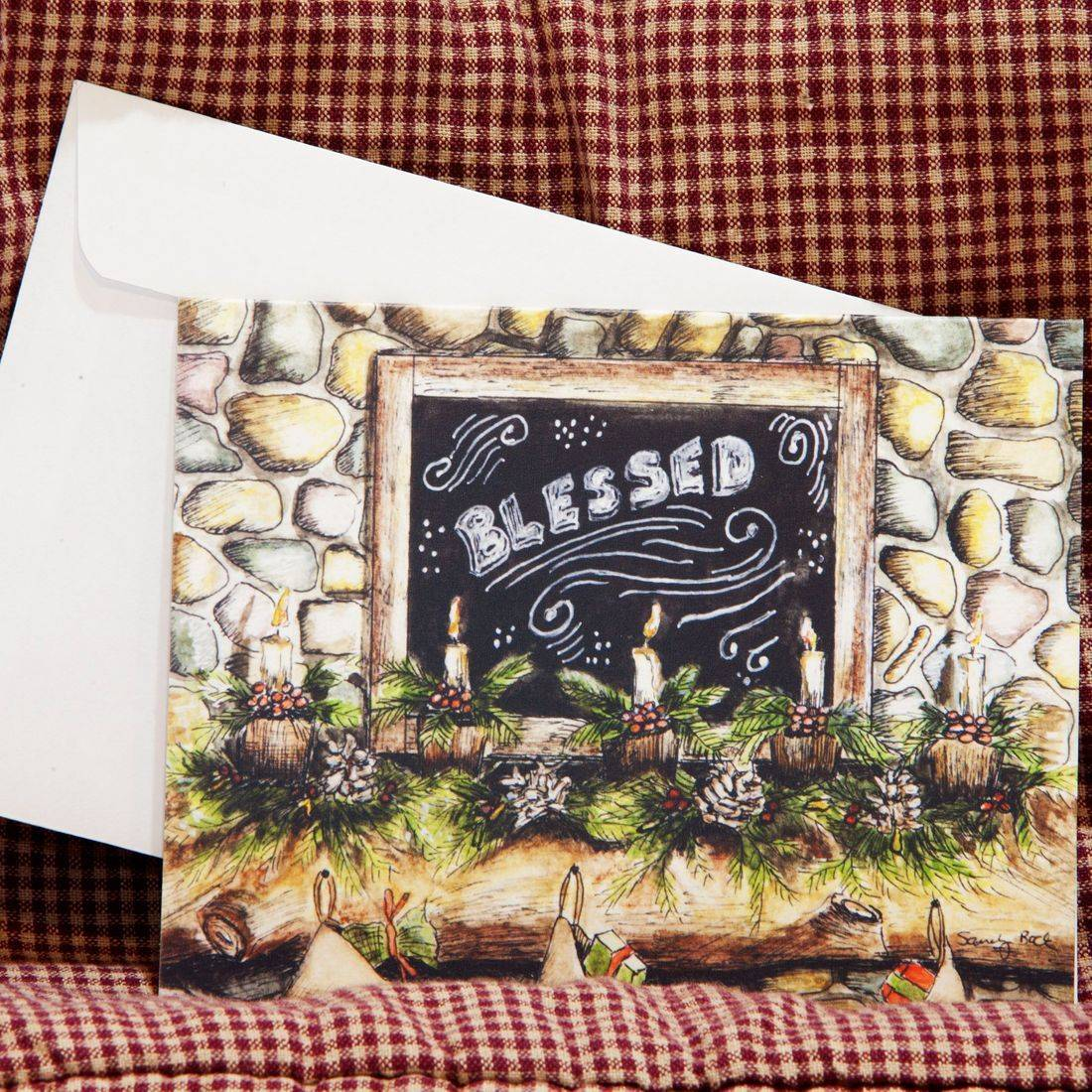 Christmas cards, holiday crads, country christmas, rustic country, chalk art, christian