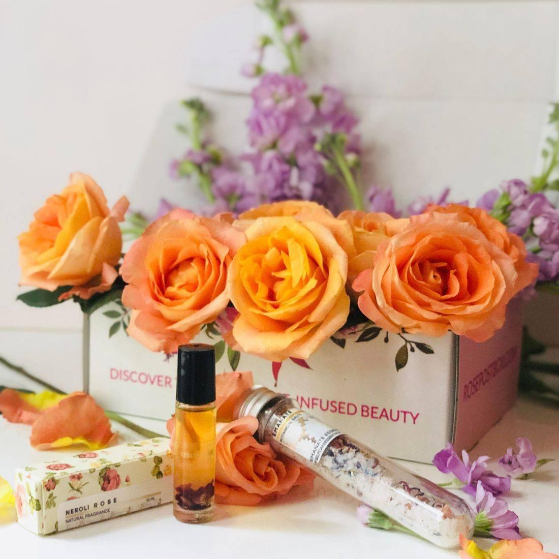 Rose Perfume, Clean Perfume, Neroli Rose Perfume, Natural Clean Rose Perfume, Clean Rose Beauty, RosePost Box, Eco Beauty Box