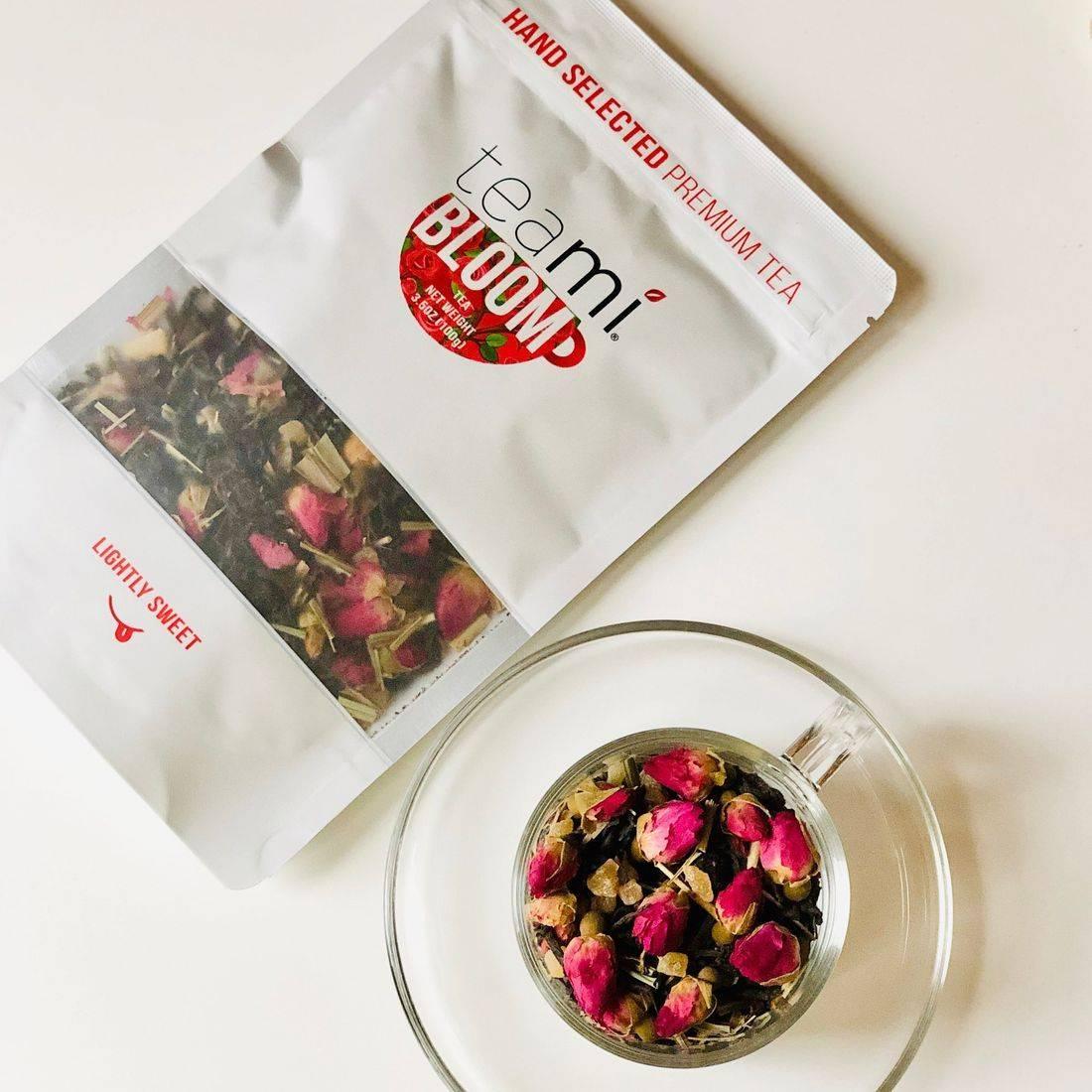 Teami Bloom Tea Blend, rose tea, tea blend