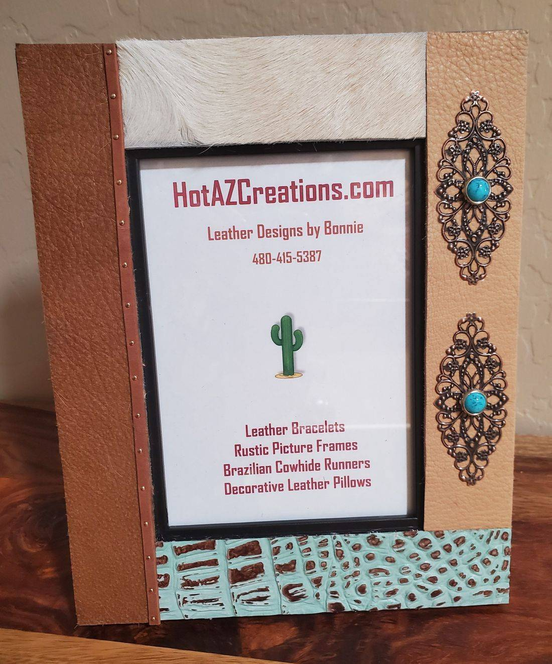Rustic Leather Frame