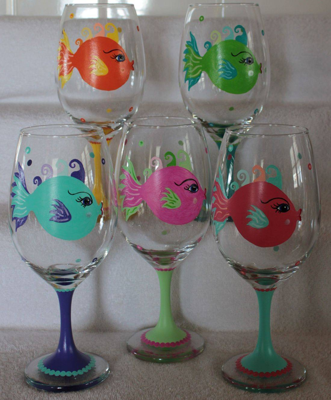 fish wine glass