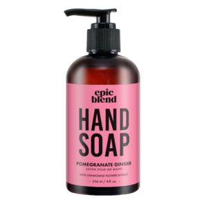 Pomegranate ginger Hand Soap, Epic Blend, epic blend ottawa, where to buy epic blend, exhalo spa, barrhaven spa, ottawa best spa