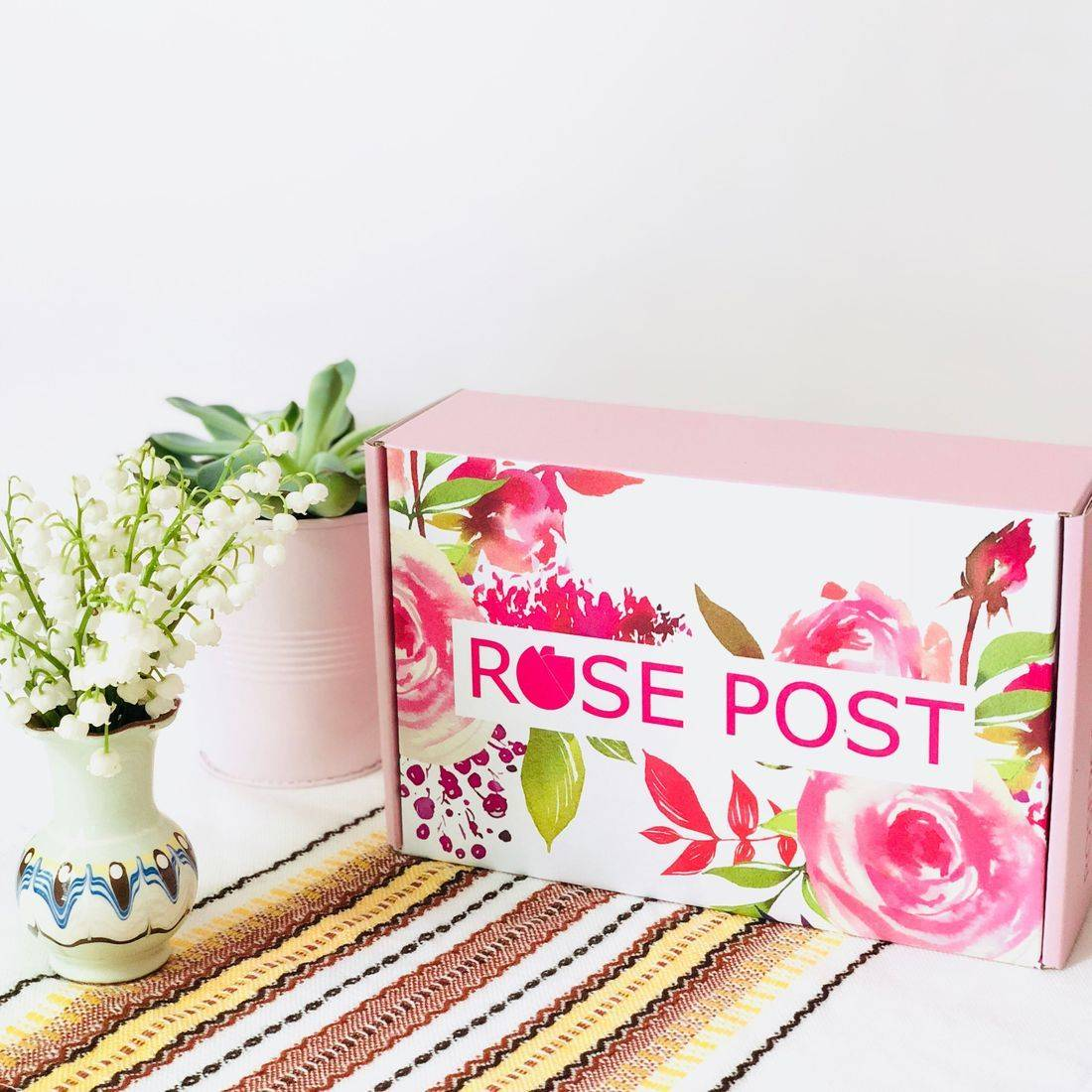 Mother's Day Box, RosePost Special Edition Box, Clean Rose Beauty Gift, Rose Skincare, Mother's Day Gift, Rose Gift for Mom