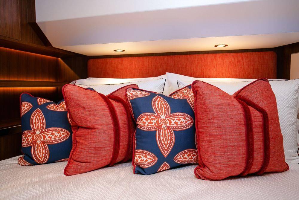 Newport Yacht Interiors, custom pillows, designer pillows, custom bedding