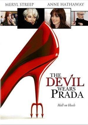 Movie poster The Devil Wears Prada starring Meryl Streep & Anne Hathaway