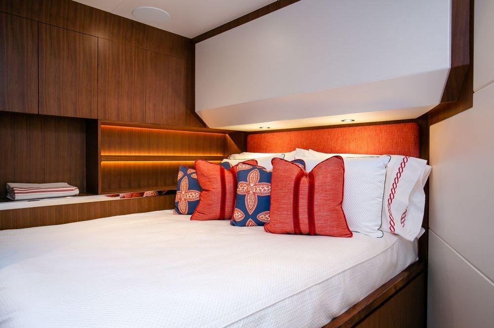 Newport yacht Interiors, custom yacht bedding, yacht interiors
