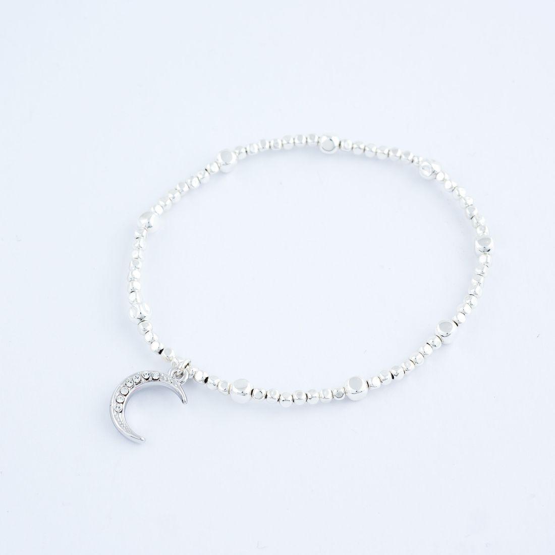 Charm Bracelet - Moon Charm, Stretch (BR92)` £8.99