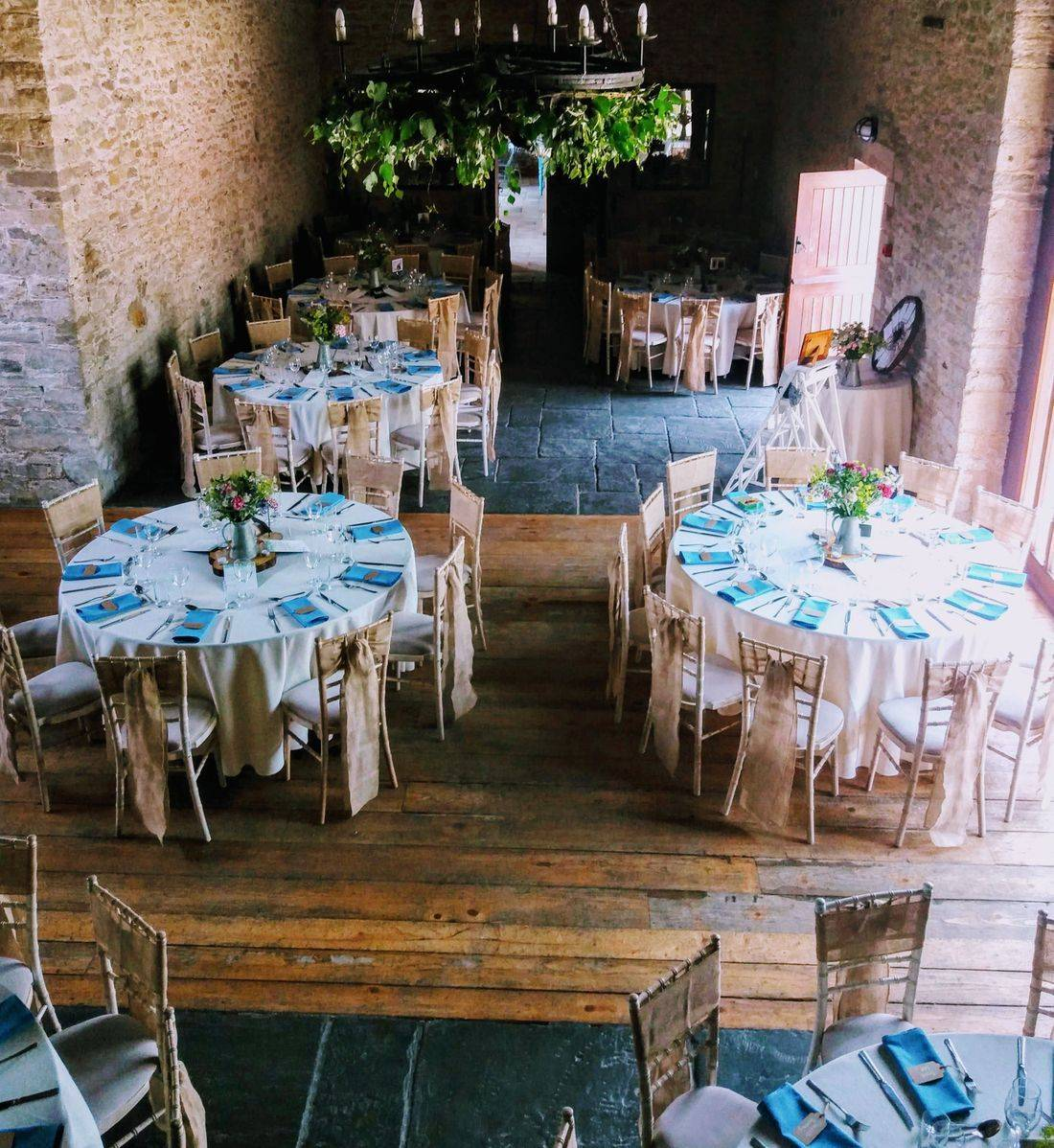 Barn wedding reception at Kingston Country Courtyard