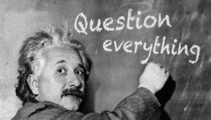 Great writers ask great questions, like Einstein.