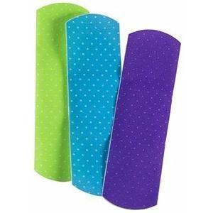 "Cardinal Health™ Adhesive Plastic Bandage, Neon Design, 3/4"" x 3"""